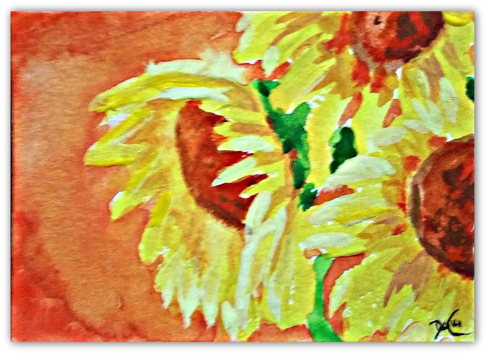 """Sunflower3"" original fine art by Dana C"