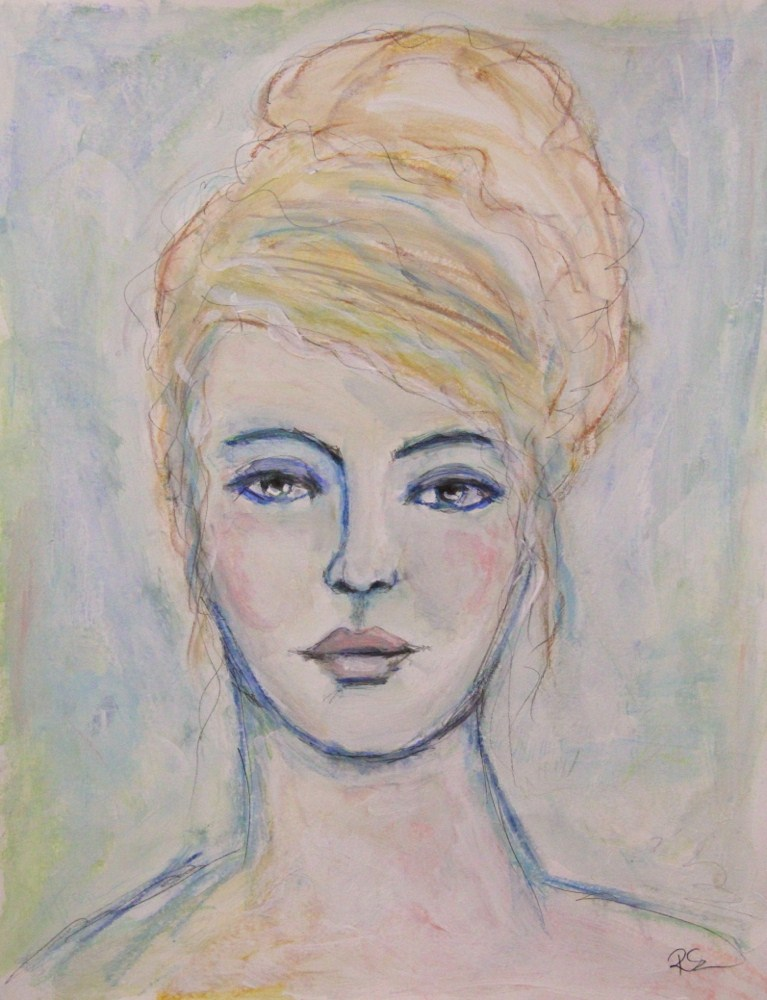 """The Vintage Blonde"" original fine art by Roberta Schmidt"