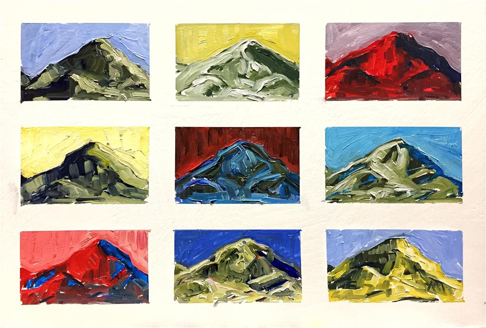 """Nine Mountains"" original fine art by Austin Maloney"