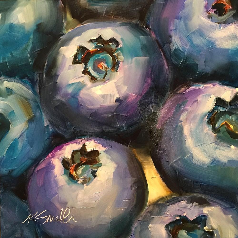 """the blues"" original fine art by Kim Smith"