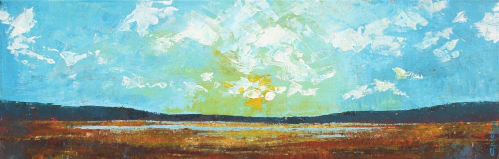 """Across the Marsh"" original fine art by Sage Mountain"