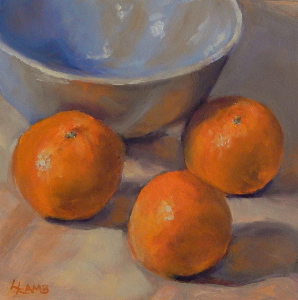 """Oranges"" original fine art by Lori L. Lamb"