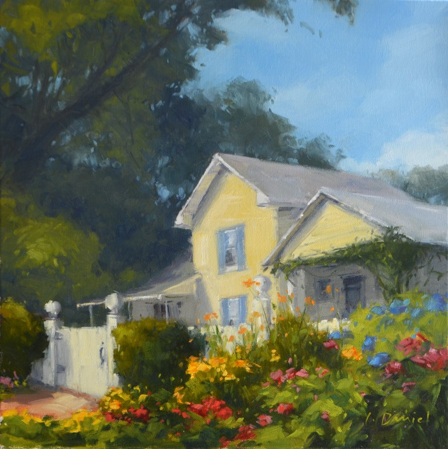 """Garden View"" original fine art by Laurel Daniel"