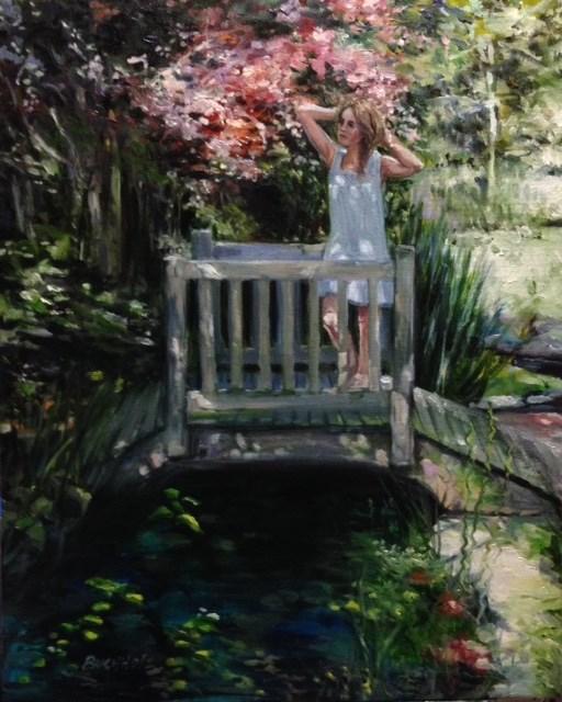 """Garden Ornaments"" original fine art by Terri Buchholz"