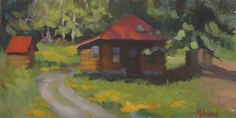 """Fritz's Cabin"" original fine art by Sherri Aldawood"