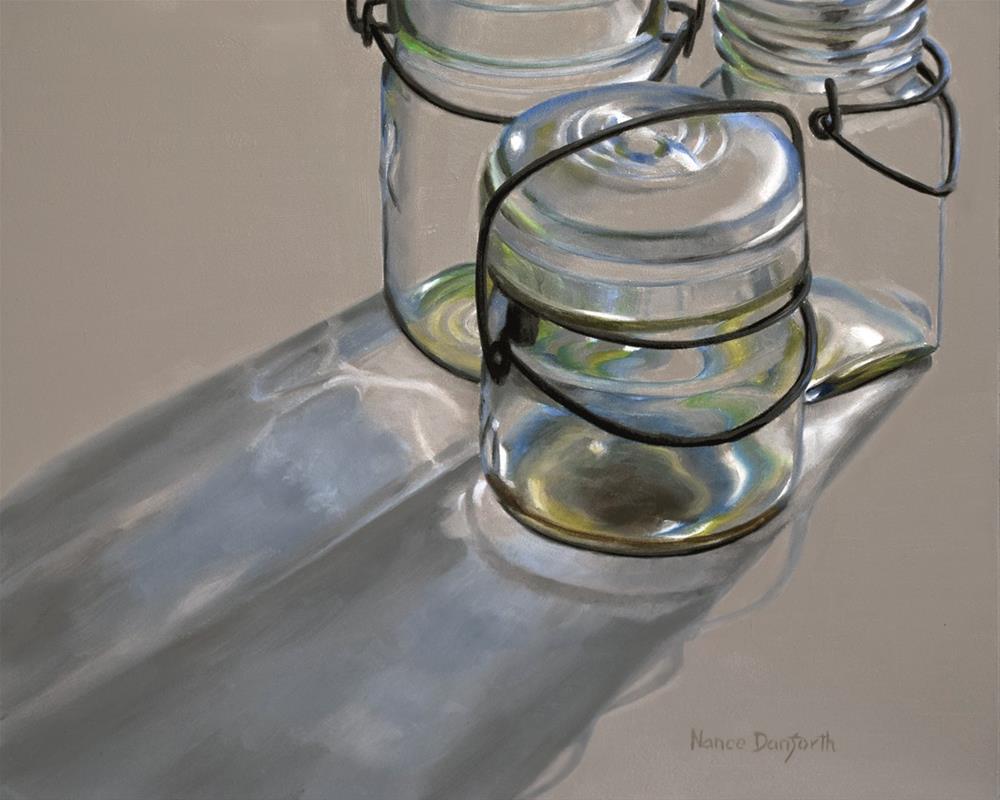 """""""Canning Jars in Backlight"""" original fine art by Nance Danforth"""