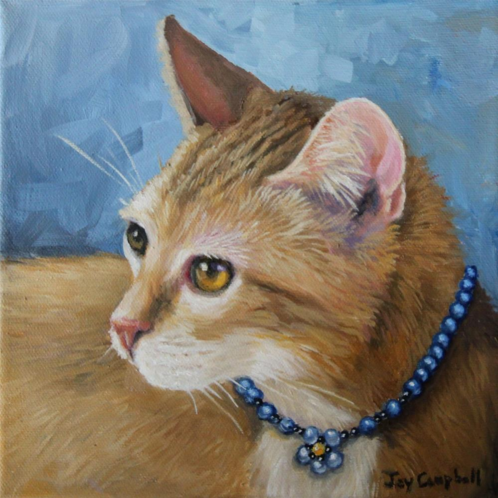 """Blue Pearls"" original fine art by Joy Campbell"