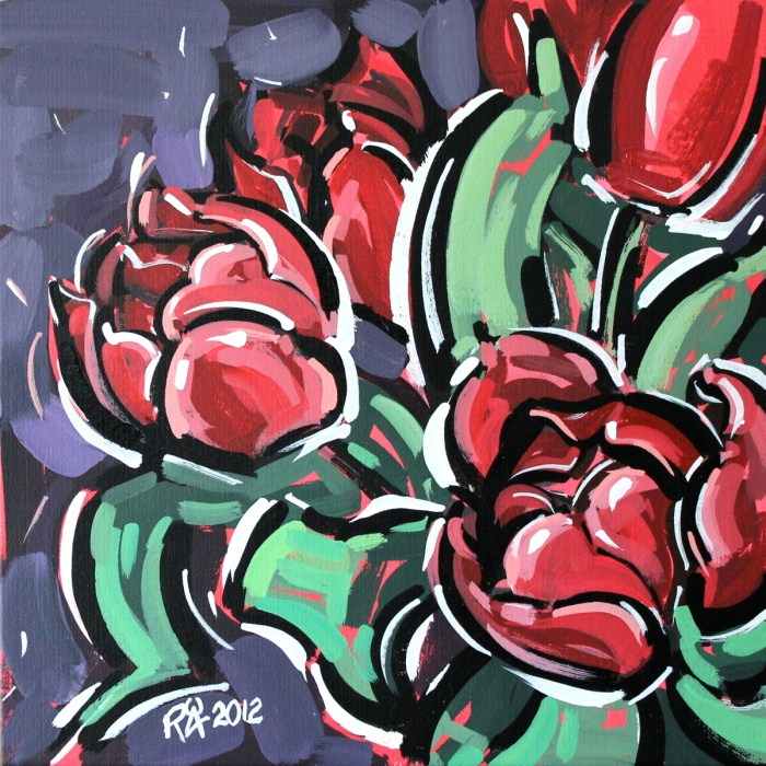 """Tulips 2"" original fine art by Roger Akesson"