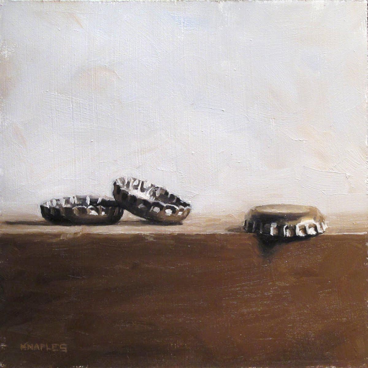 """Three Caps"" original fine art by Michael Naples"
