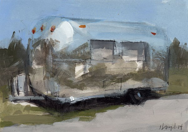 """Airstream - Sketch"" original fine art by David Lloyd"