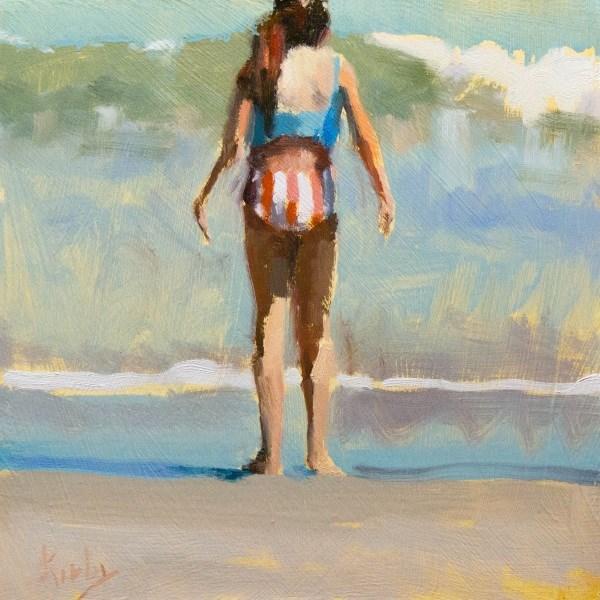 """Wet Feet"" original fine art by Randall Cogburn"
