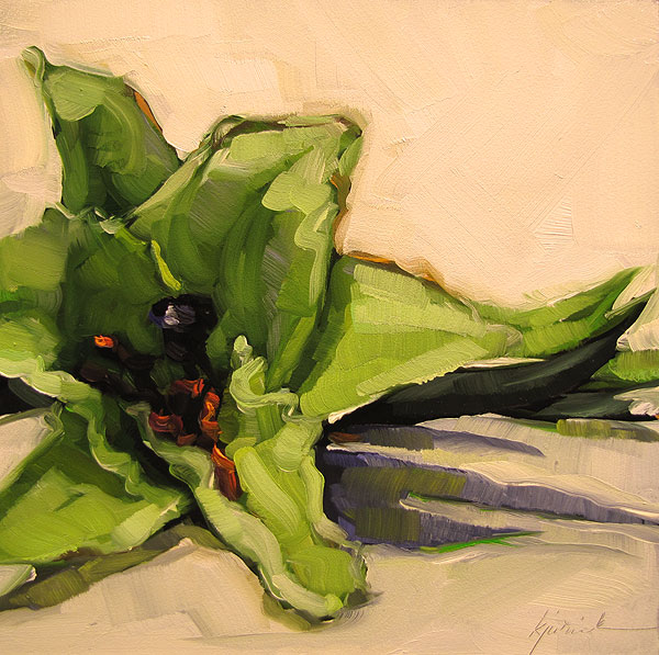 """White Lily"" original fine art by Karin Jurick"