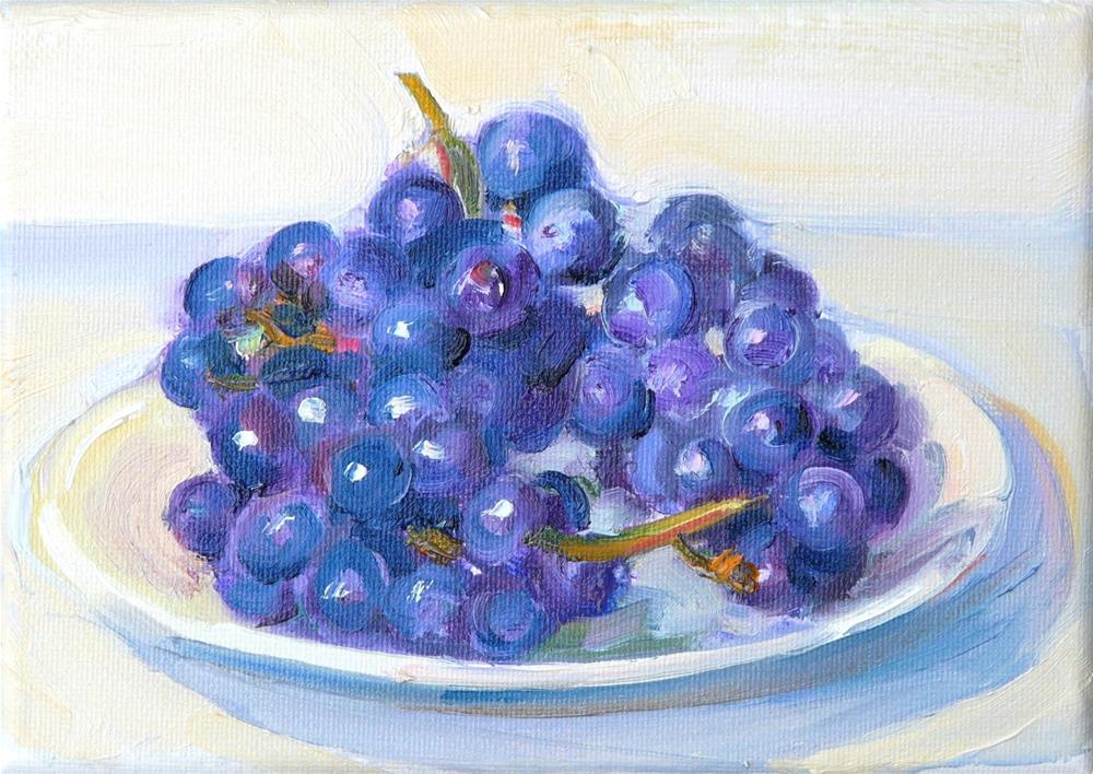 """Right off the vine,still life,oil on canvas,5x7,price$185"" original fine art by Joy Olney"