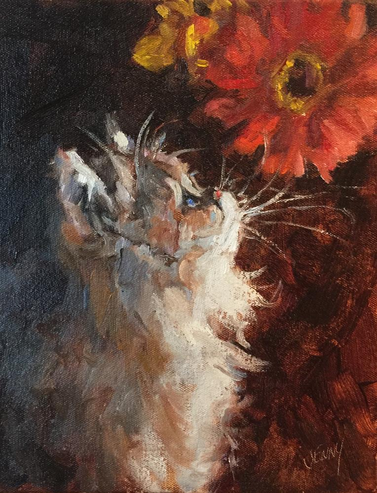 """Gus Gus"" original fine art by Jenny Buckner"