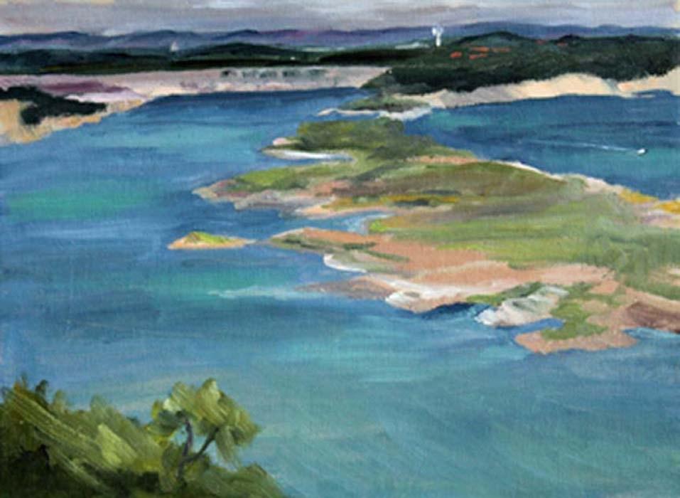"""Sometimes Island"" original fine art by Susan Andersen"