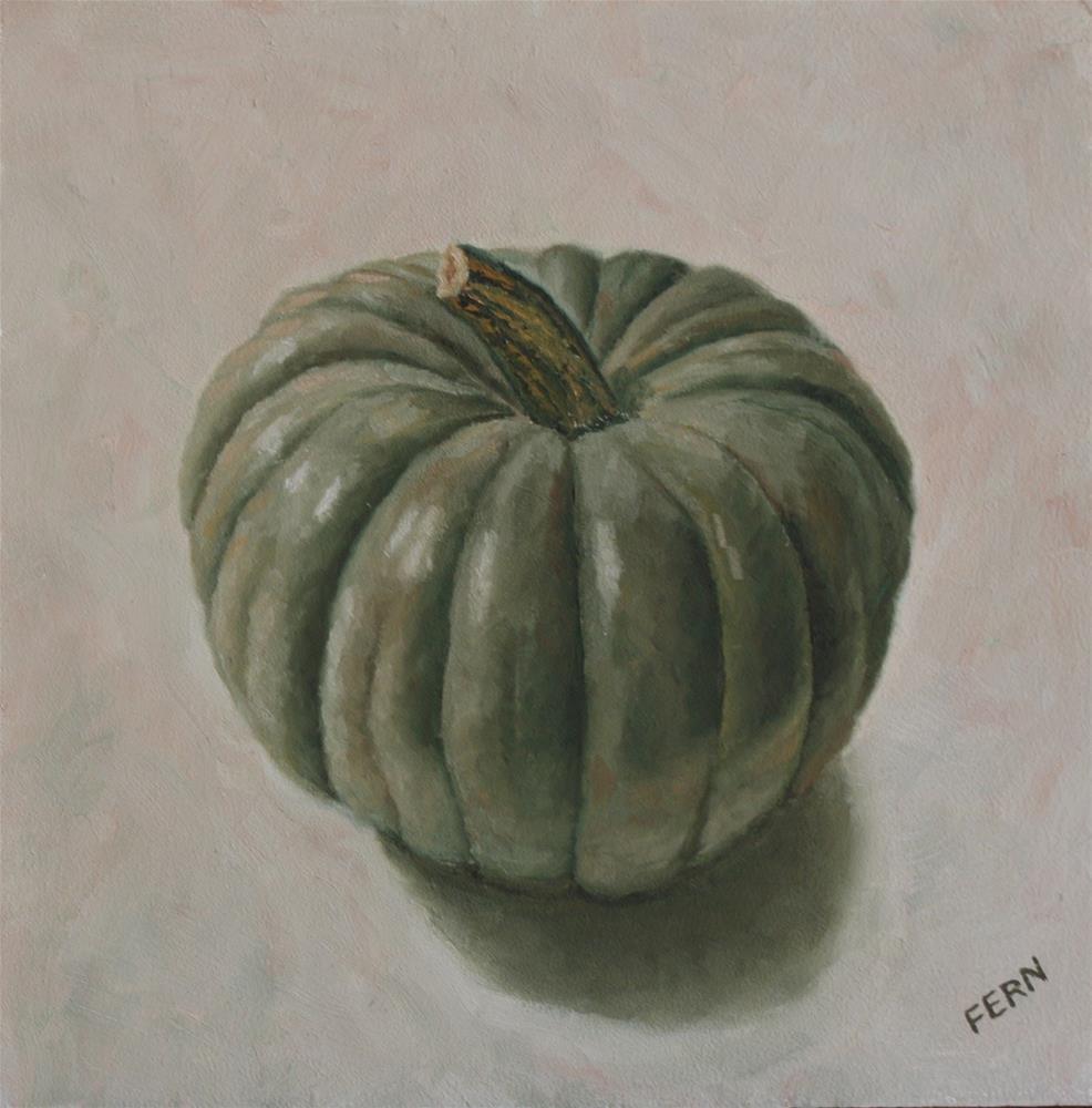 """""""The Green Pumpkin"""" original fine art by Susan Fern"""