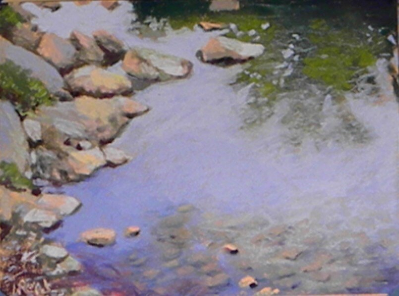 """Rock reflections"" original fine art by Toby Reid"