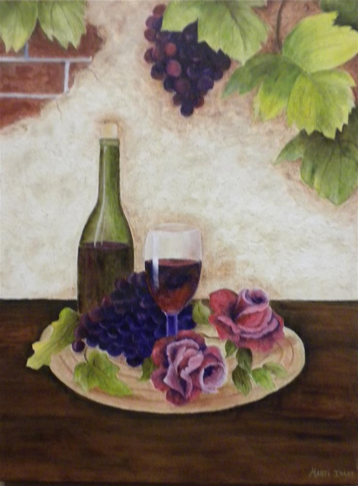 """Wine and Roses"" original fine art by Marti Idlet"