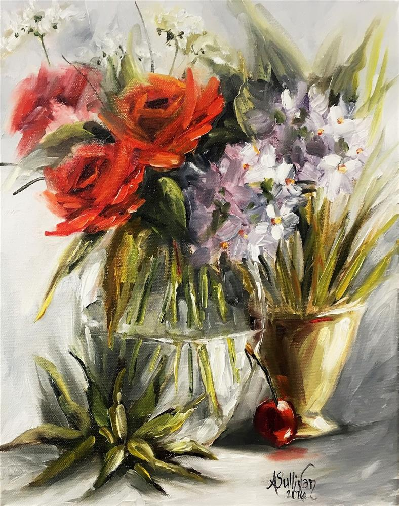 """A Beautiful Day still life painting by Alabama Artist Angela Sullivan"" original fine art by Angela Sullivan"