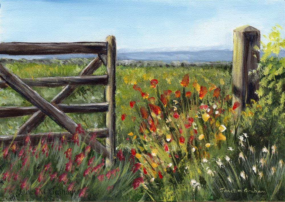 """Country Field"" original fine art by Janet Graham"