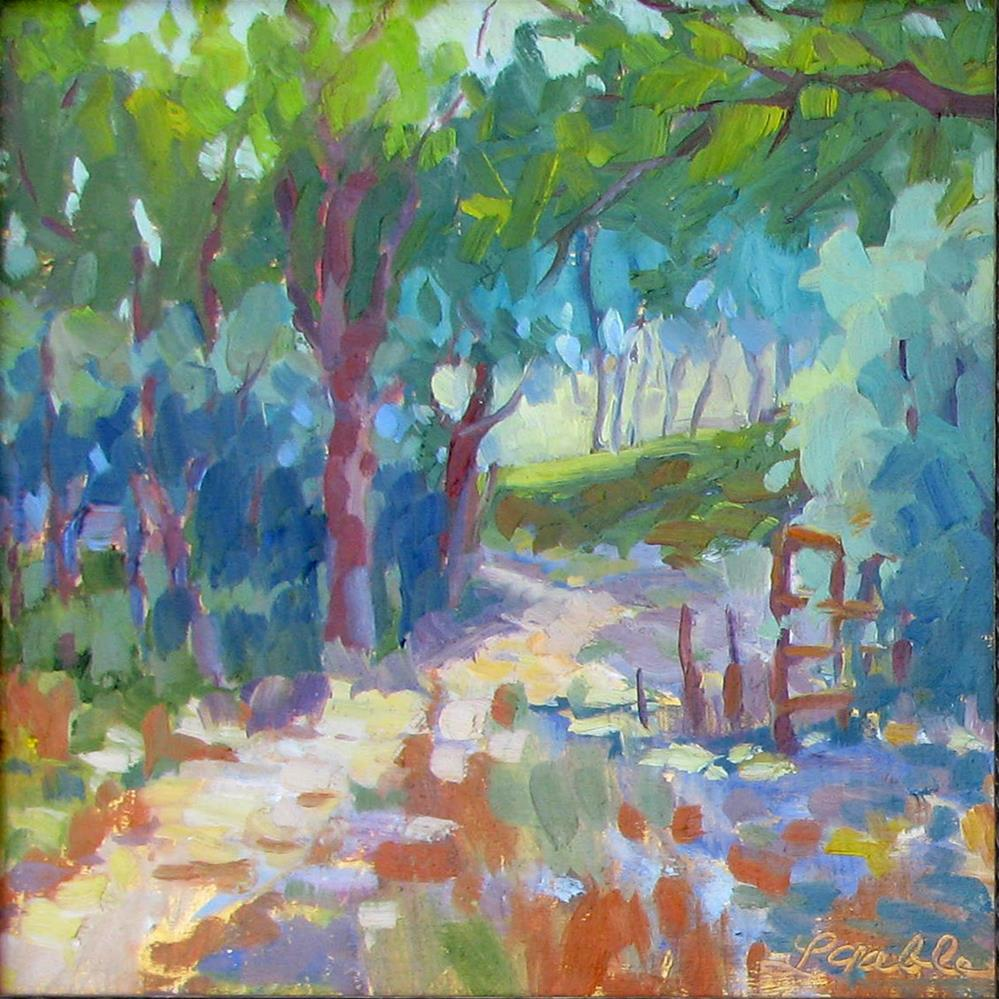 """Wooded Path"" original fine art by Laura Gable"