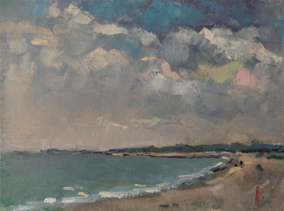 """West Beach, West Sussex"" original fine art by Andre Pallat"