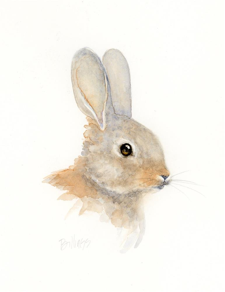 """Another Rabbit Study II"" original fine art by Susanne Billings"