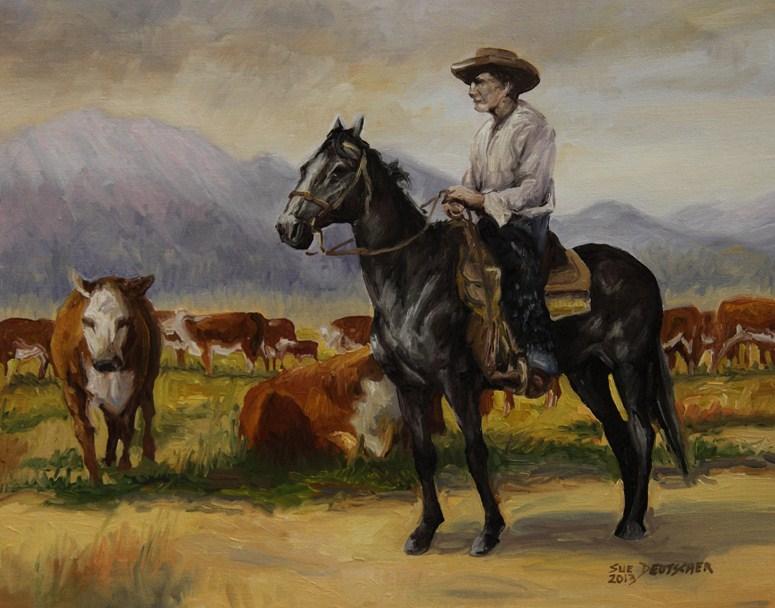"""""""Cowboy"""" original fine art by Sue Deutscher"""