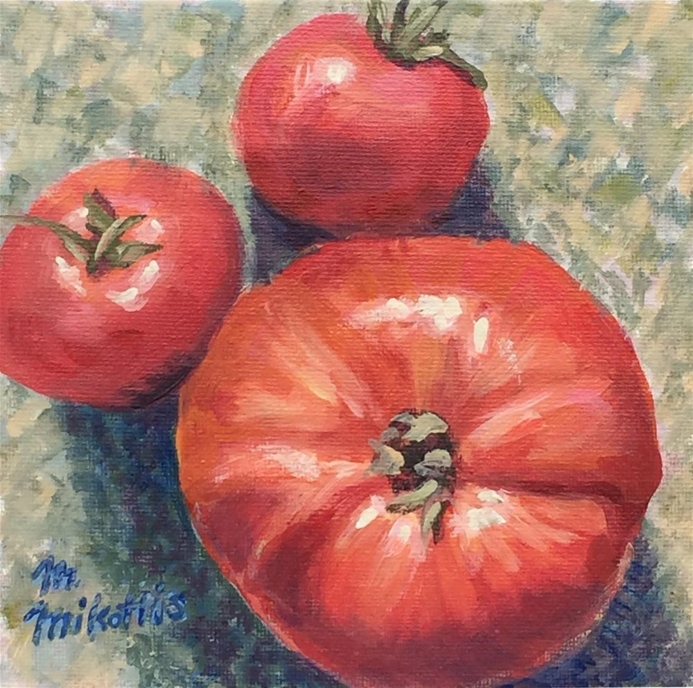 """Tomatoes From Above"" original fine art by Michael Mikottis"