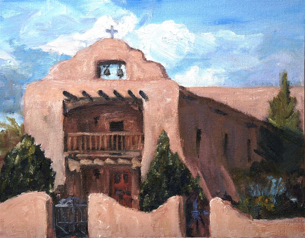 """Santo Tomas Church"" original fine art by Candi Hogan"