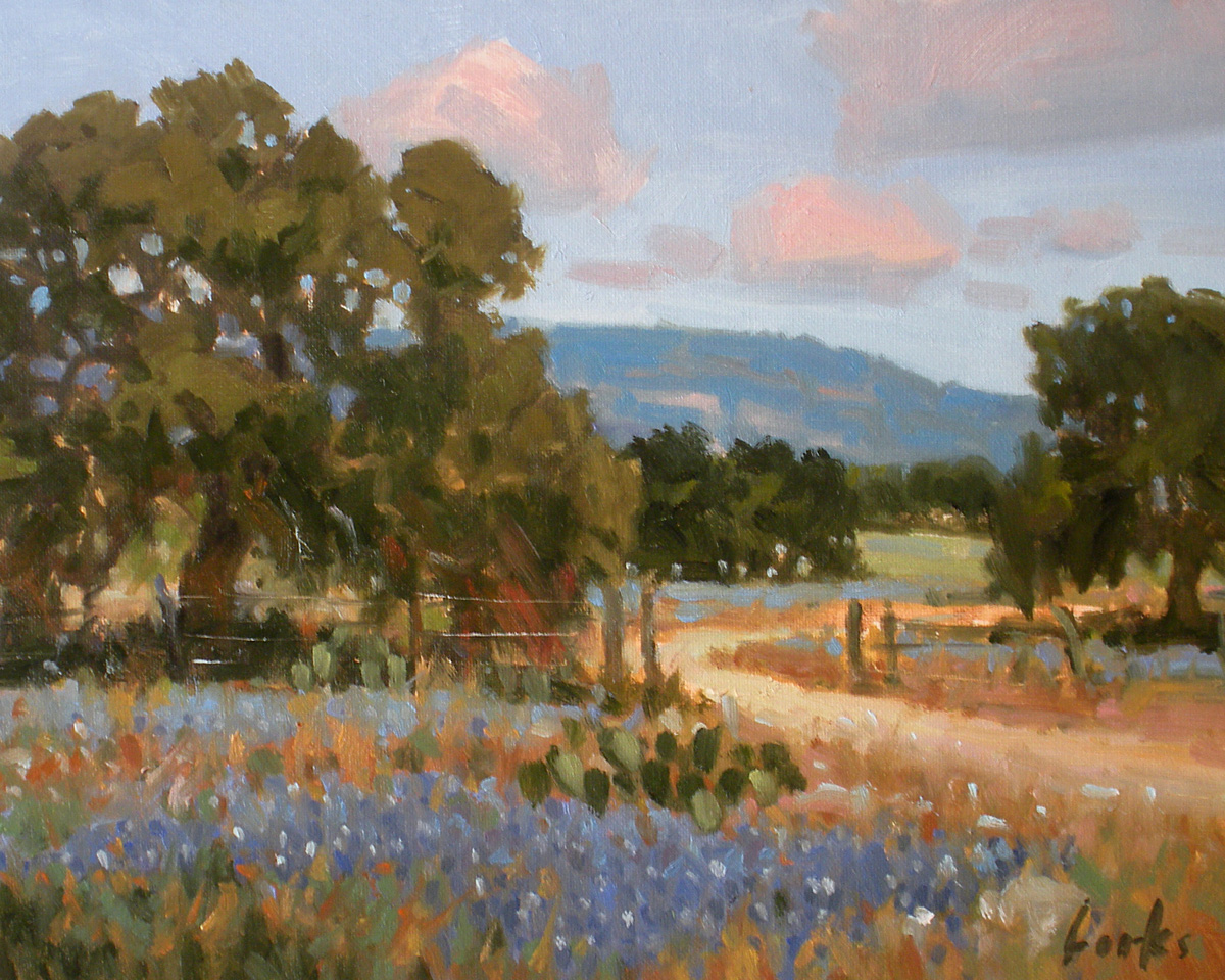 """Spring Valley"" original fine art by David Forks"