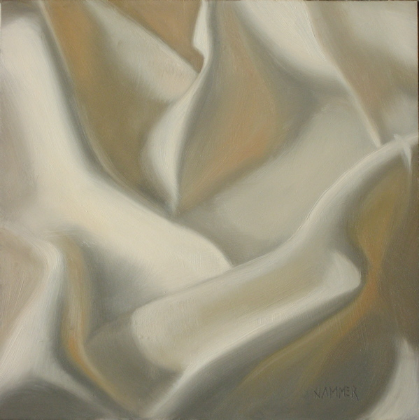 """Basic white  6x6 oil on board"" original fine art by Claudia Hammer"