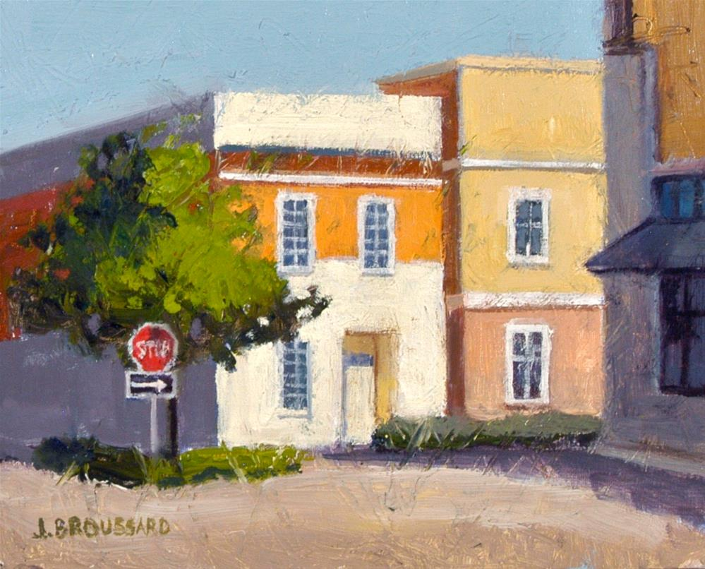 """Sunlit Buildings"" original fine art by Janet Broussard"