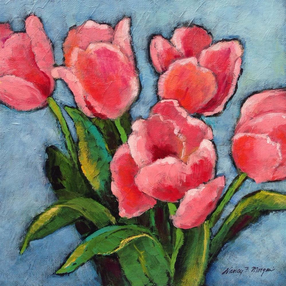 """Pink Tulips"" original fine art by Nancy F. Morgan"