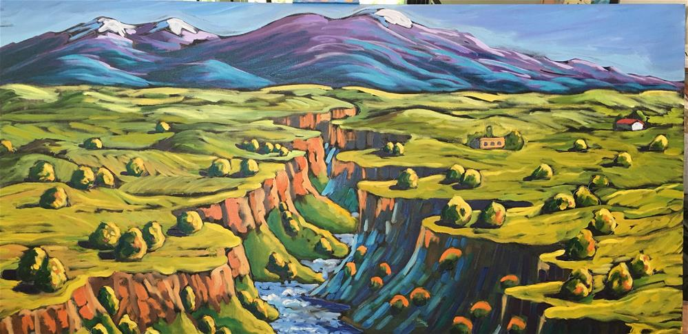"""Rio Grande Gorge"" original fine art by Robyn Wellman"