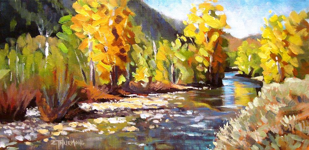 """Wood River Rhythms"" original fine art by Zack Thurmond"