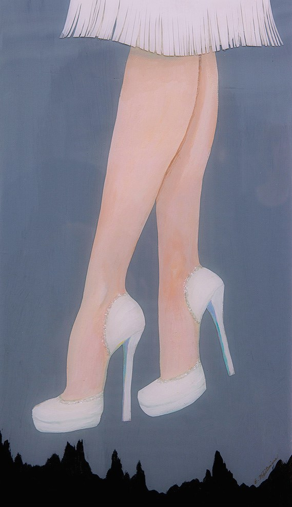"""High Heel High"" original fine art by Barbara Whitmire"