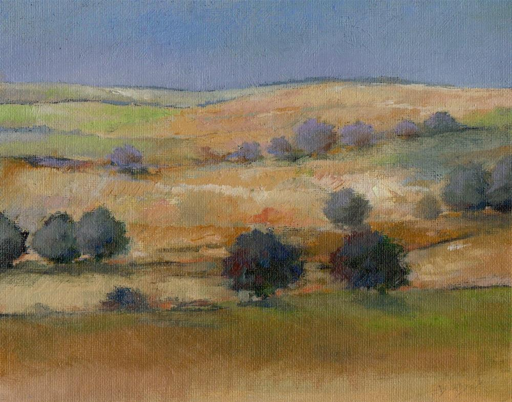 """around Mint Hill"" original fine art by V. DeBak"