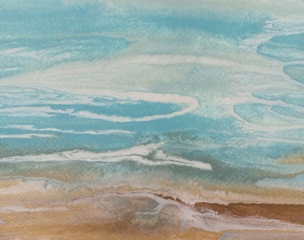 """Contemporary Seascape,Coastal Abstract Art Gulf Study #12 by International Contemporary Artist Kim"" original fine art by Kimberly Conrad"