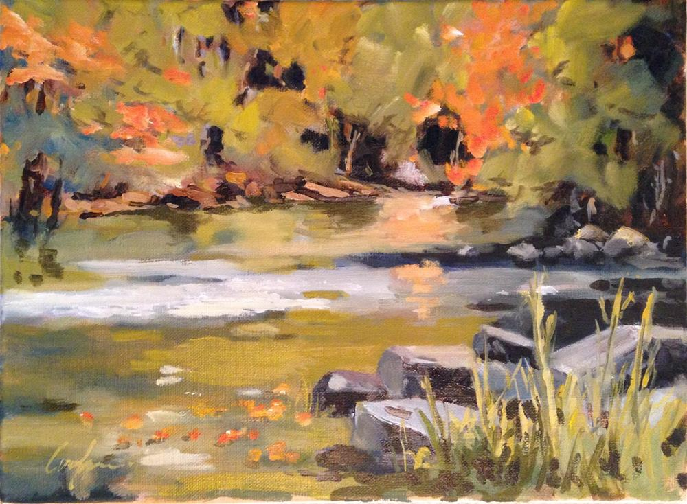 """""""Saline River Autumn"""" original fine art by Cornelis vanSpronsen"""