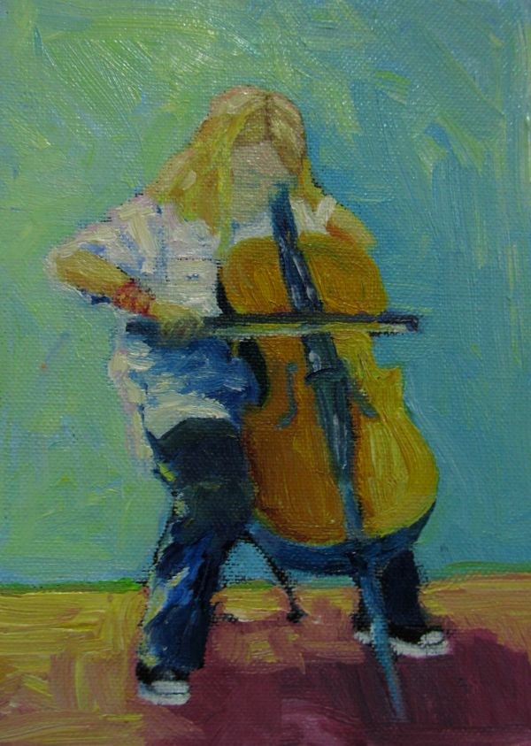 """The Recital"" original fine art by Mb Warner"