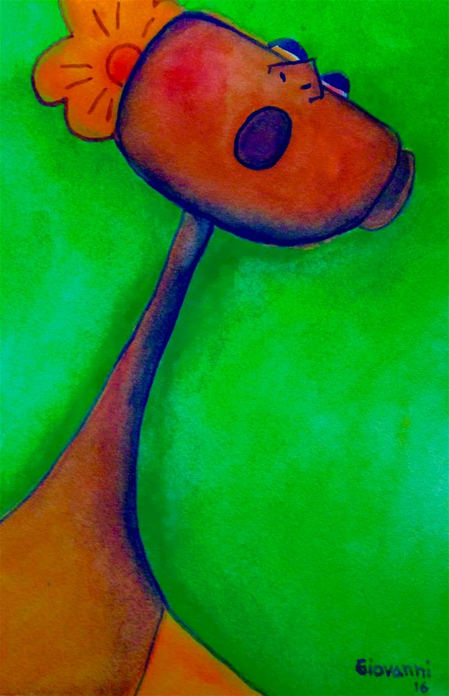 """Singing"" original fine art by Giovanni Antunez"