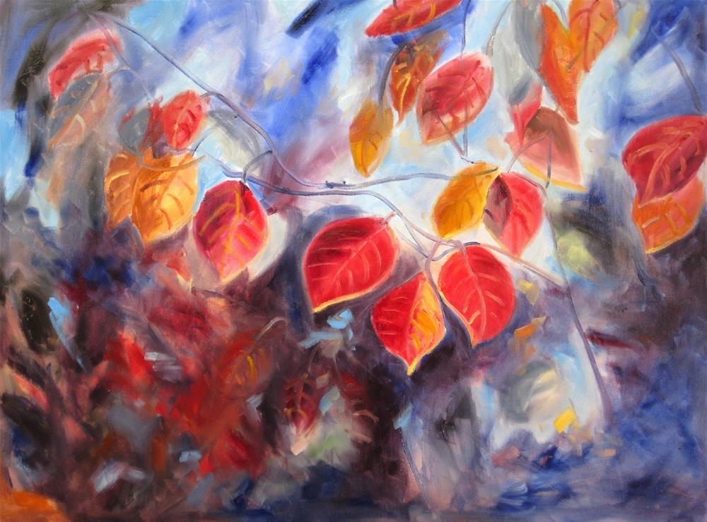 """""""Autumn Leaves"""" original fine art by Julia Lu"""