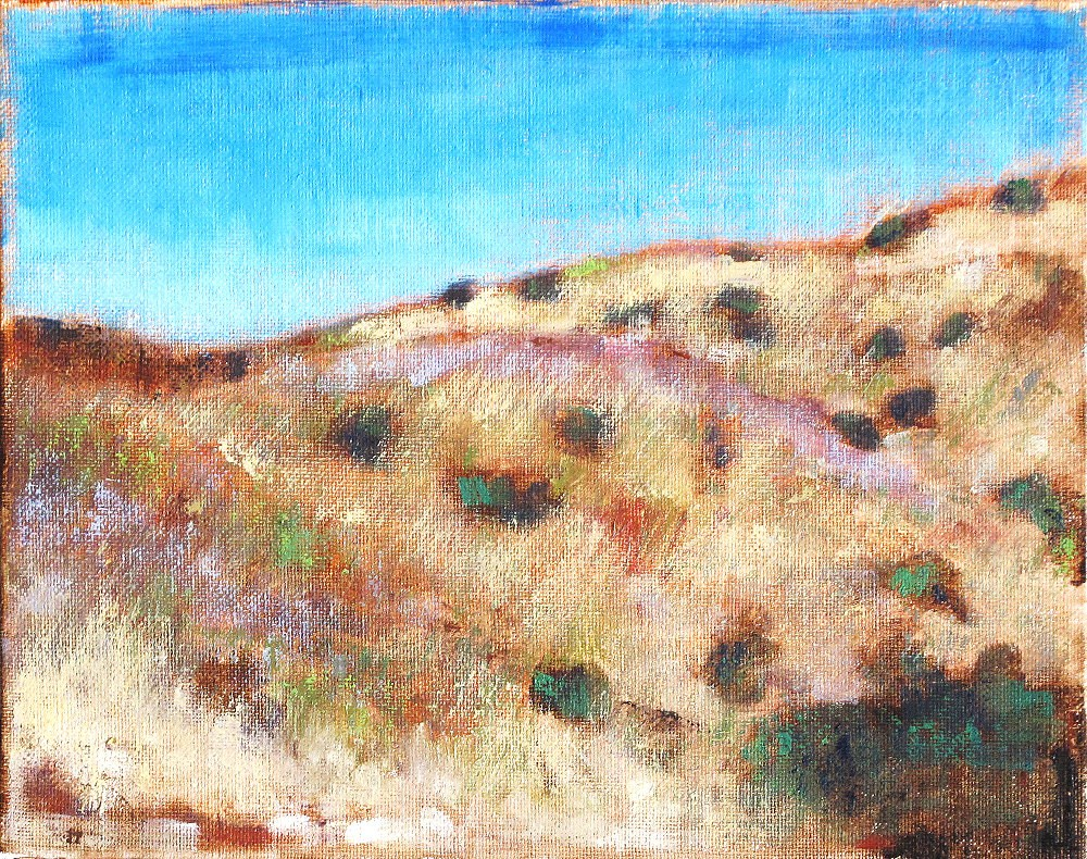 """Landscape in El Cajon"" original fine art by Kevin Inman"