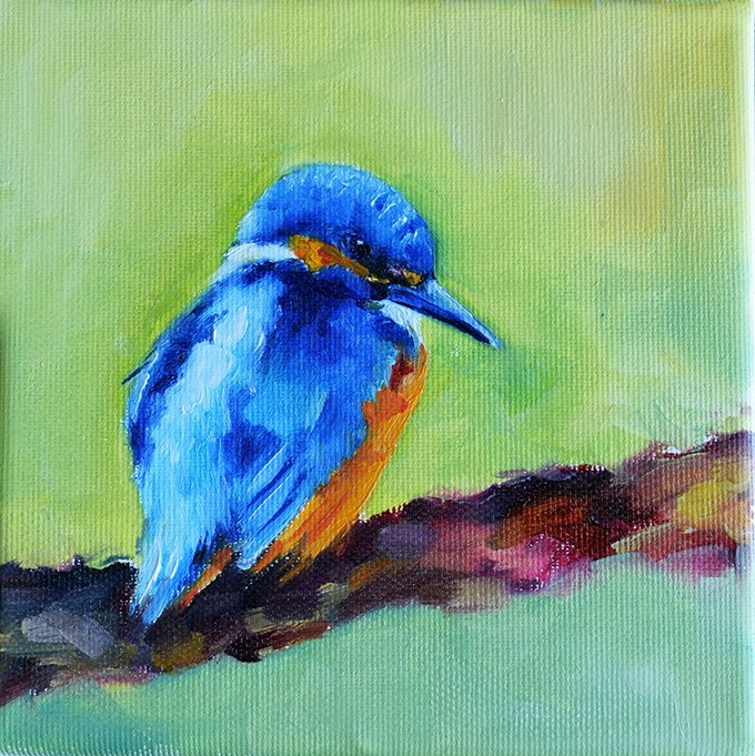 """Kingfisher"" original fine art by Stefan Peters"