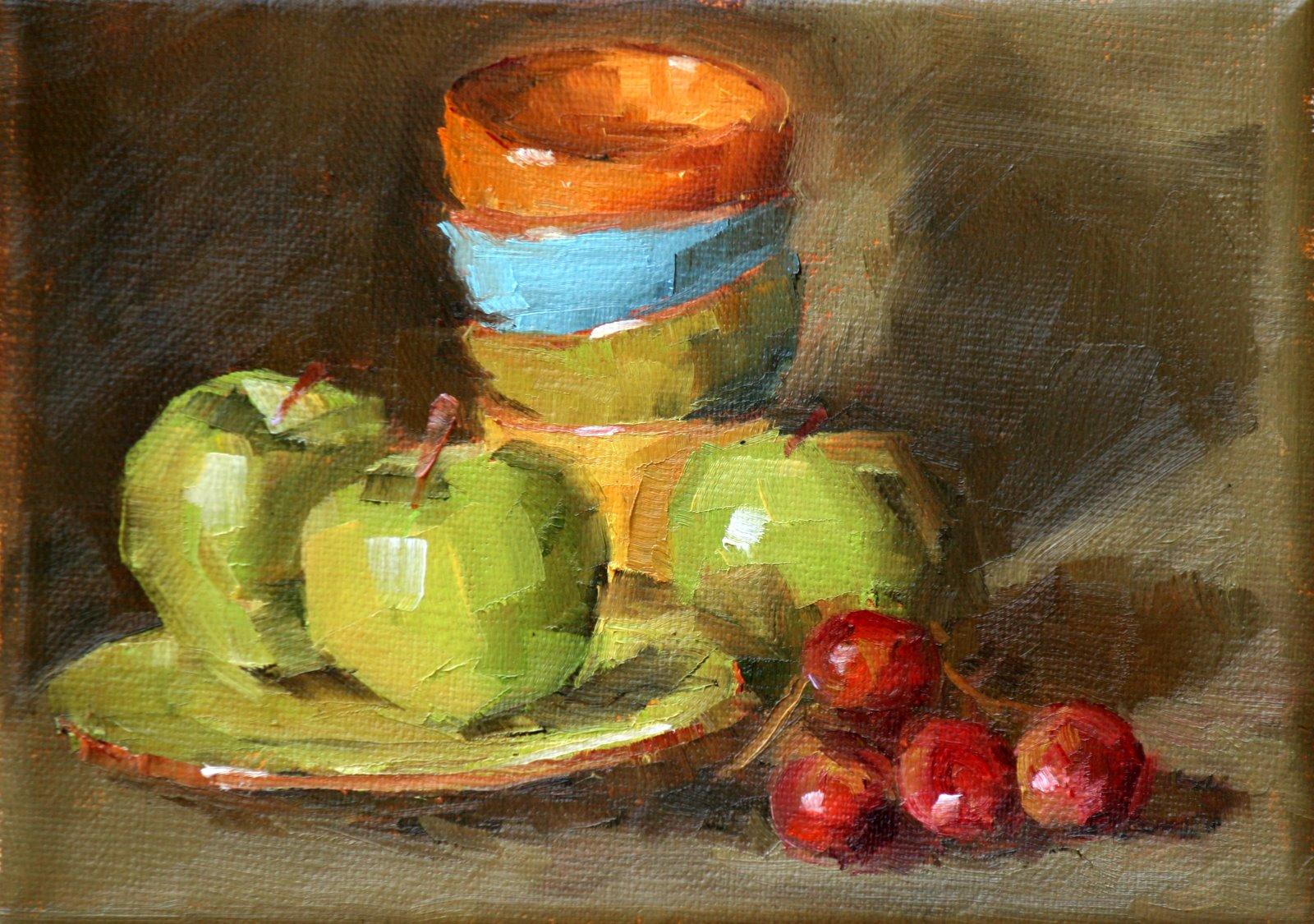 """""""green on green"""" original fine art by Carol Carmichael"""