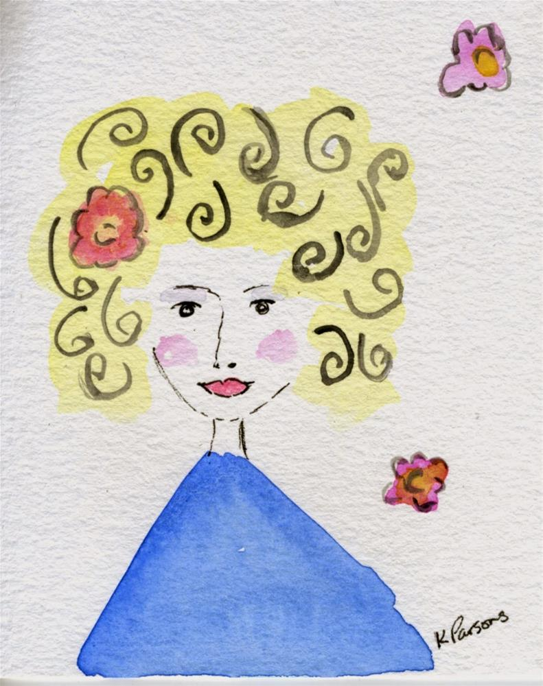 """Fabulously Adorable"" original fine art by Kali Parsons"