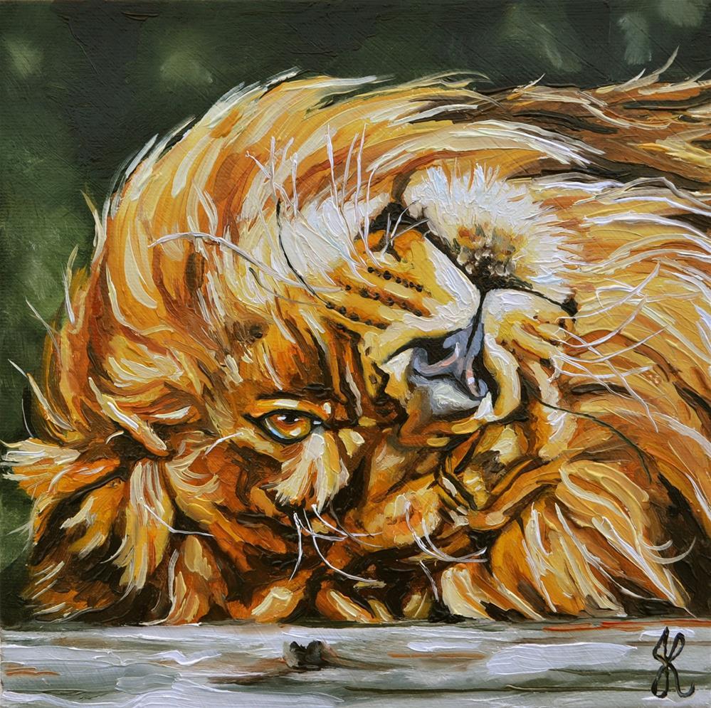 """Big Scary Cat"" original fine art by Jacinthe Rivard"