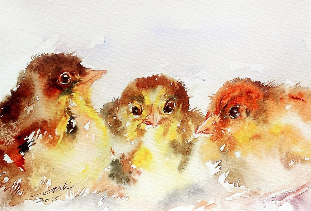 """Snuggle"" original fine art by Arti Chauhan"