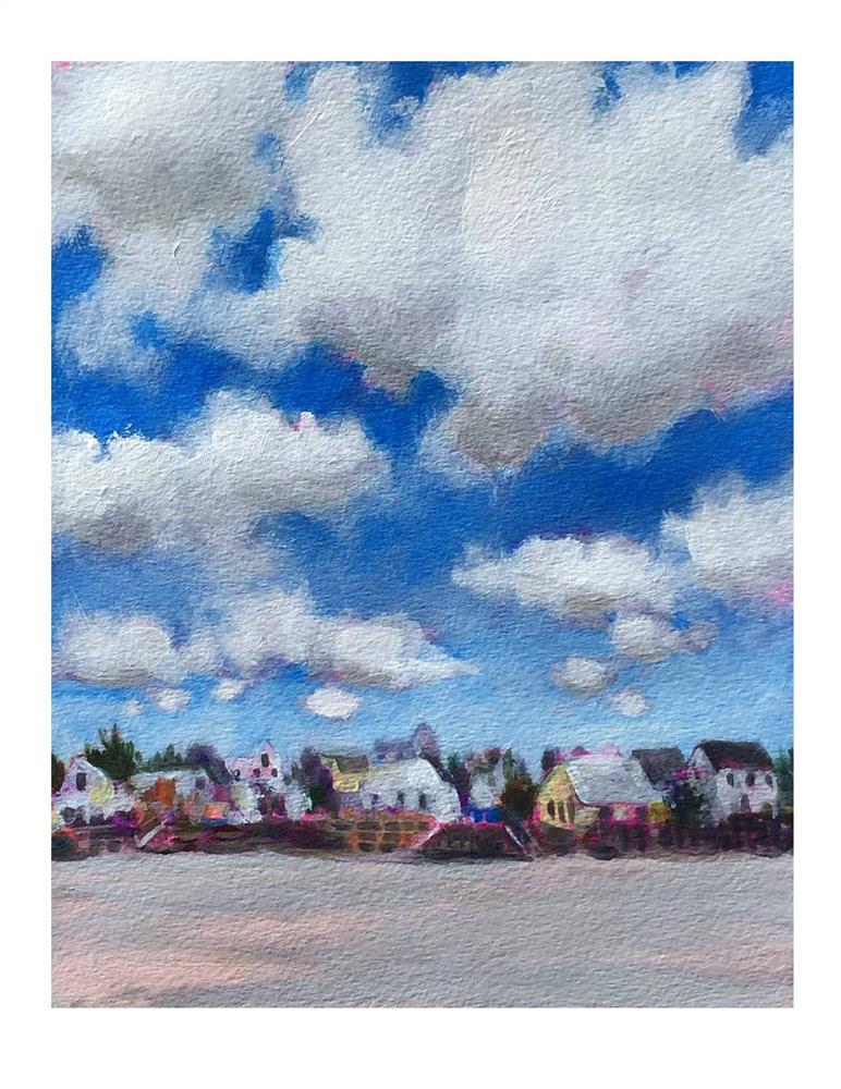 """Higgins Beach Cloud Study"" original fine art by Suzanne Woodward"